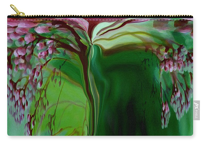 Tree Life Art Carry-all Pouch featuring the digital art Tree Of Life by Linda Sannuti