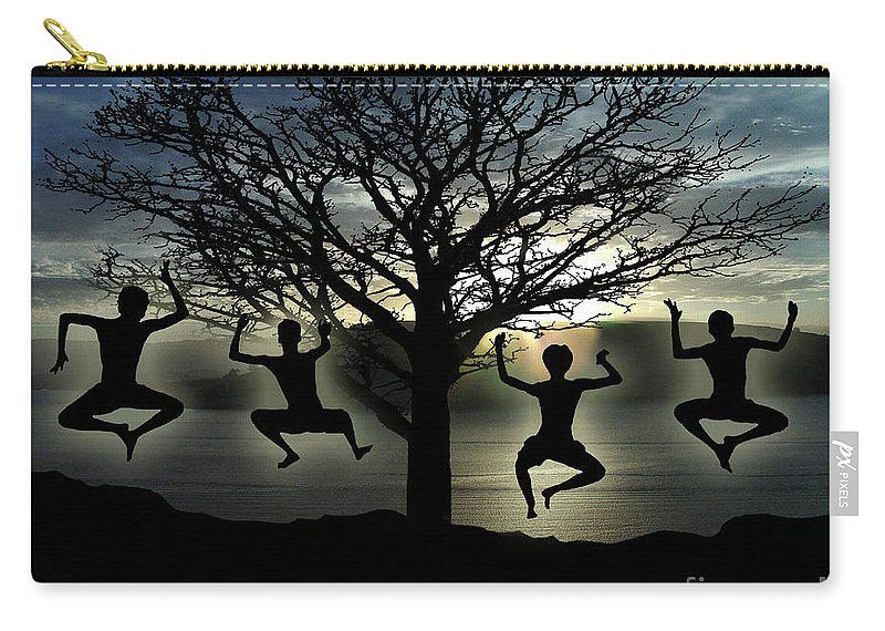 Tree Of Life Carry-all Pouch featuring the digital art Tree Of Life by Peter Piatt