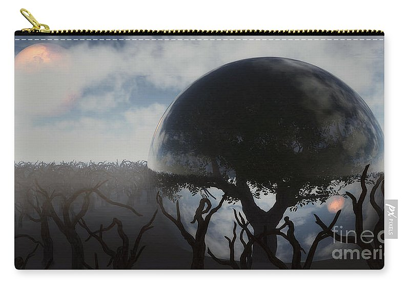 Life Carry-all Pouch featuring the digital art Tree Of Life by Richard Rizzo