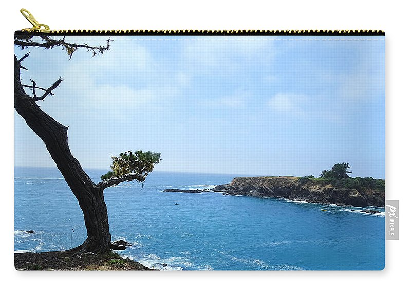 Tree Carry-all Pouch featuring the photograph Tree On A Coastline by Leah Stark