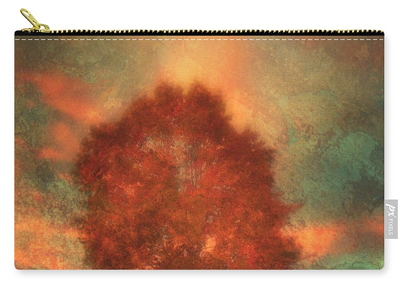 Tree Carry-all Pouch featuring the photograph Tree On Fire by Tara Turner