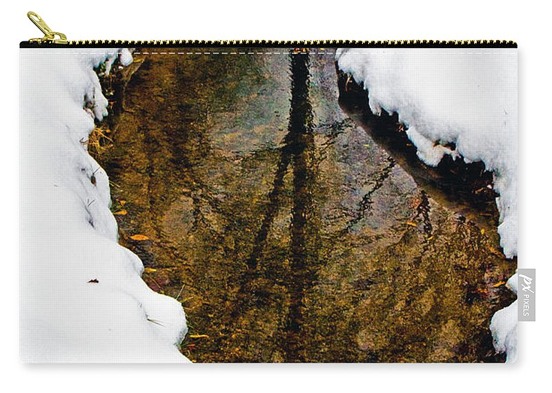 Winter Carry-all Pouch featuring the photograph Tree Reflections by David Campbell
