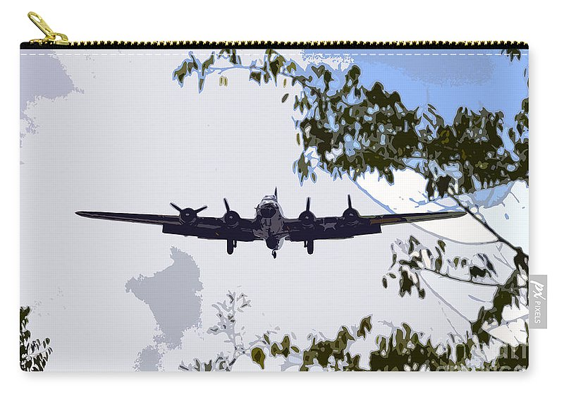 B 17 Carry-all Pouch featuring the photograph Tree Top Fly Er by David Lee Thompson