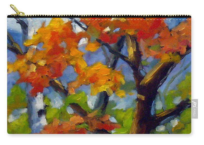 Art For Sale Carry-all Pouch featuring the painting Tree Tops by Richard T Pranke