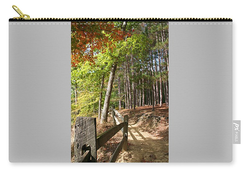 Tree Carry-all Pouch featuring the photograph Tree Trail by Margie Wildblood