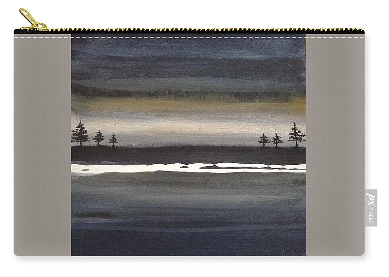Carry-all Pouch featuring the painting Tree Twins by Jannicke Wiig