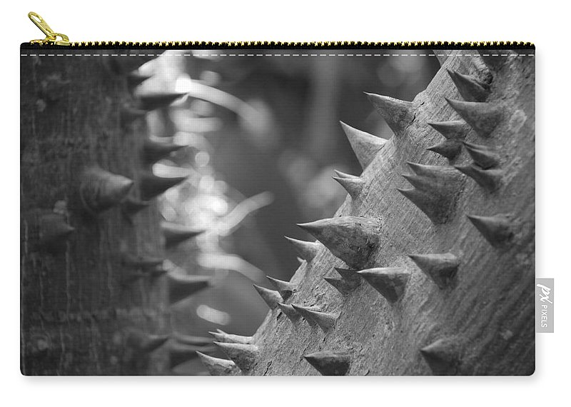 Spike Carry-all Pouch featuring the photograph Tree With Spikes And Thorns by Rob Hans