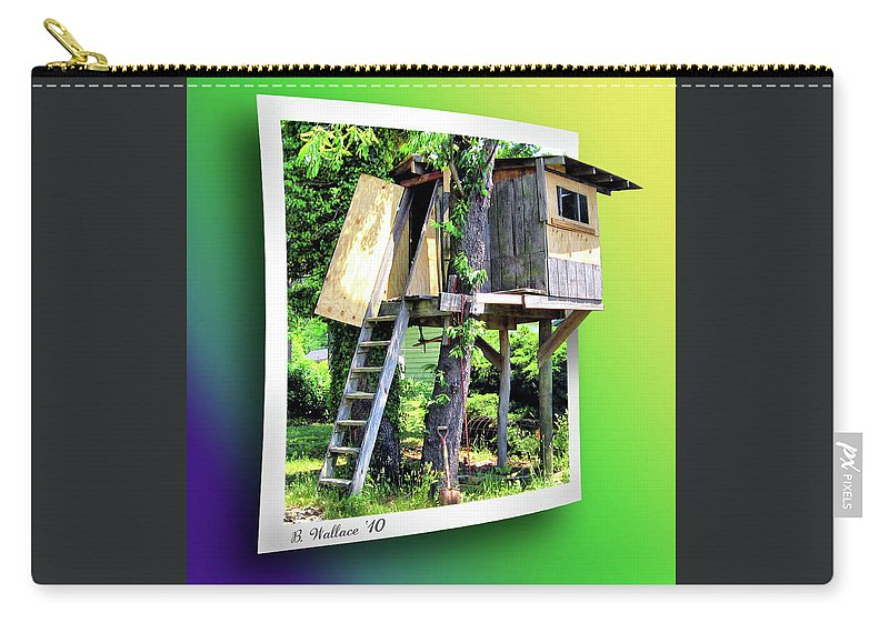 2d Carry-all Pouch featuring the photograph Treehouse Fort by Brian Wallace