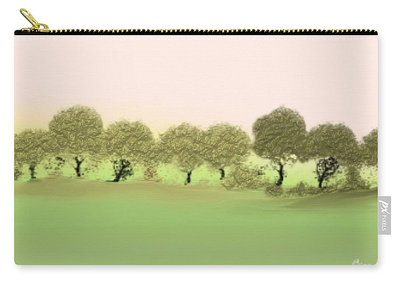 Tree Carry-all Pouch featuring the painting Treeline by Gina Lee Manley