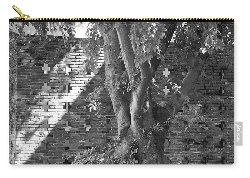 Trees Carry-all Pouch featuring the photograph Trees And Brick Crosses by Rob Hans