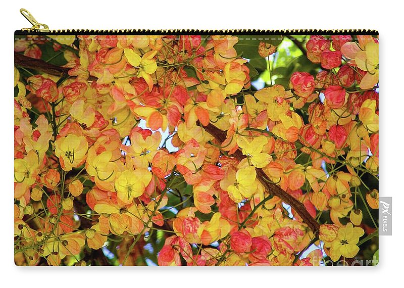Tree Carry-all Pouch featuring the photograph Trees And Flowers In Hawaii by D Davila