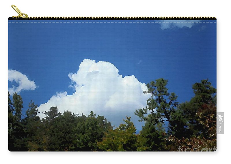 Trees Carry-all Pouch featuring the photograph Trees, Clouds, And Sky by Michael Potts