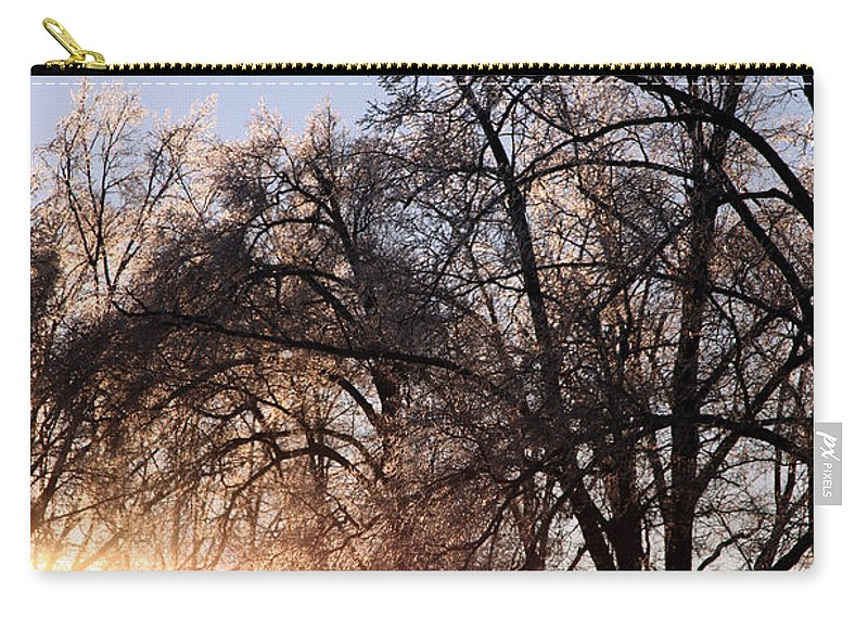Trees Carry-all Pouch featuring the photograph Trees In Ice Series by Amanda Barcon