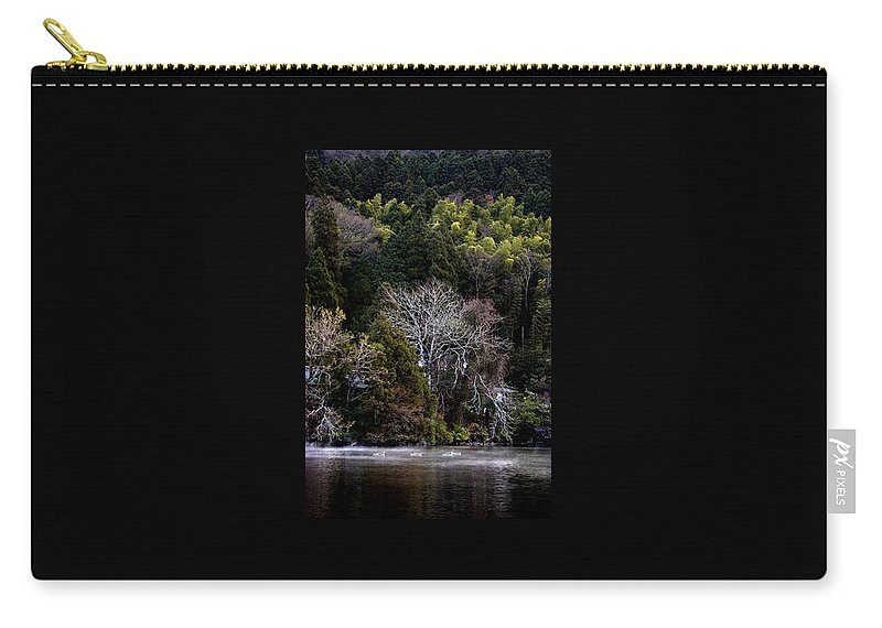 Landscape Carry-all Pouch featuring the photograph Trees In Japan 2 by George Cabig