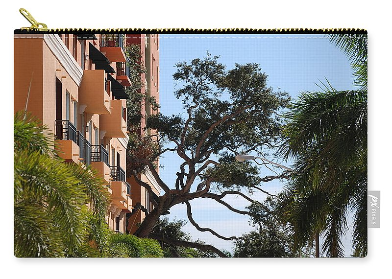 Architecture Carry-all Pouch featuring the photograph Trees In Space by Rob Hans