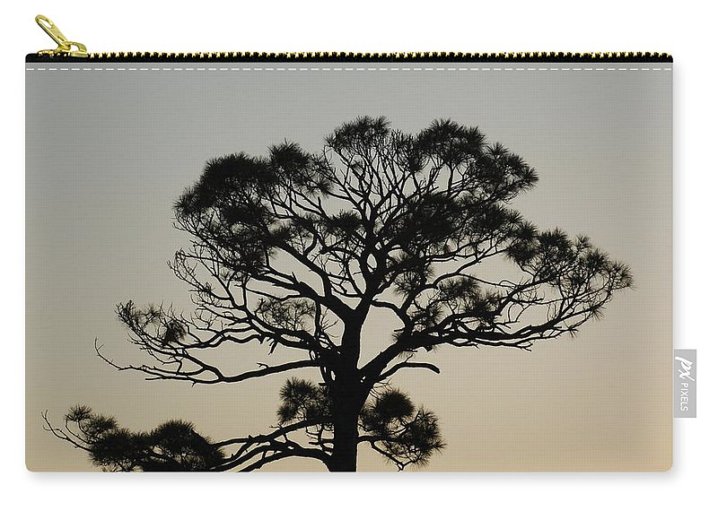 Tree Carry-all Pouch featuring the photograph Trees In Sunset by Rob Hans