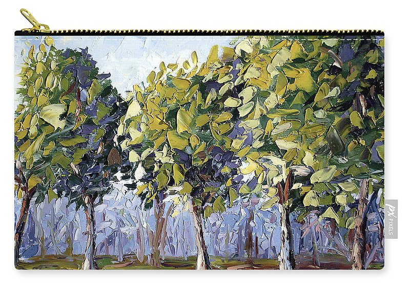 Landscape Carry-all Pouch featuring the painting Trees by Lewis Bowman