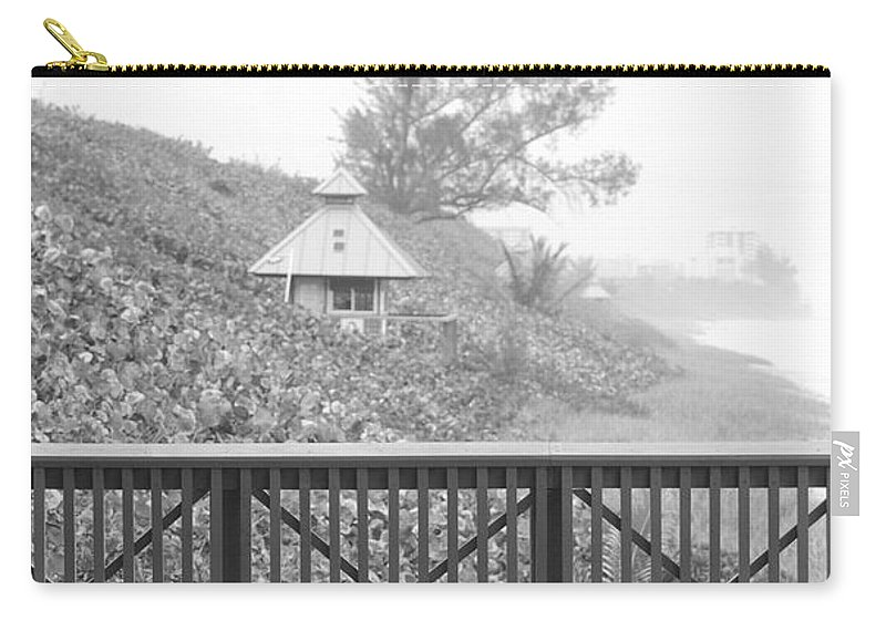 Black And White Carry-all Pouch featuring the photograph Trees On The Hill by Rob Hans