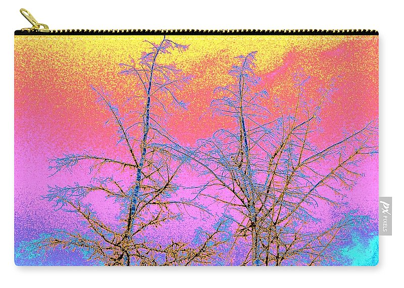 Abstract Carry-all Pouch featuring the digital art Treetops 1 by Will Borden