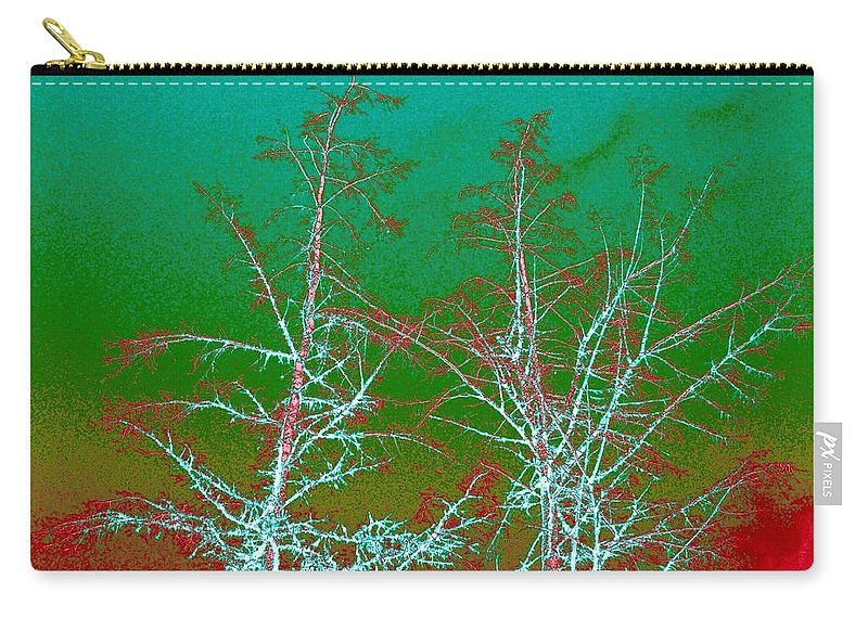 Abstract Carry-all Pouch featuring the digital art Treetops 2 by Will Borden