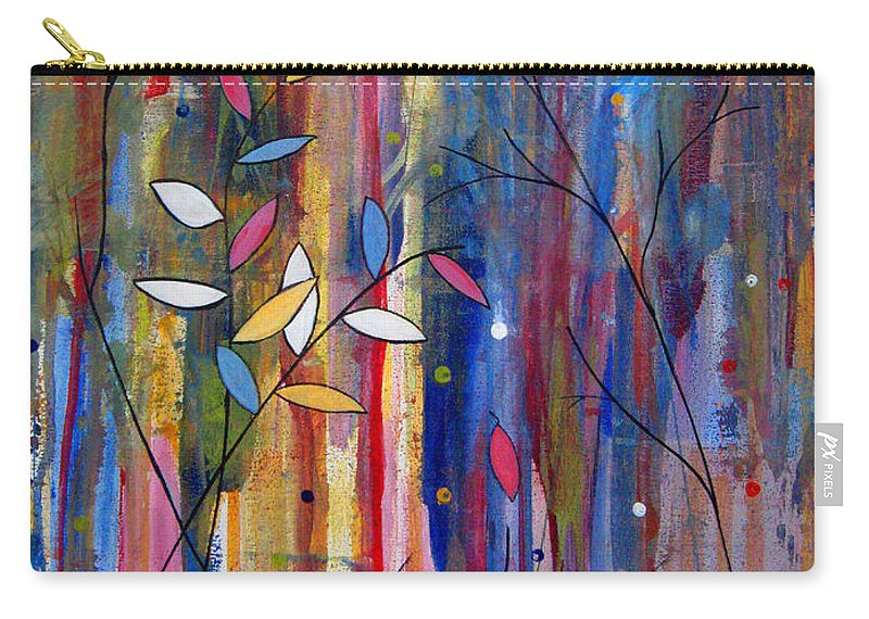 Abstract Carry-all Pouch featuring the painting Tres Jolie by Ruth Palmer
