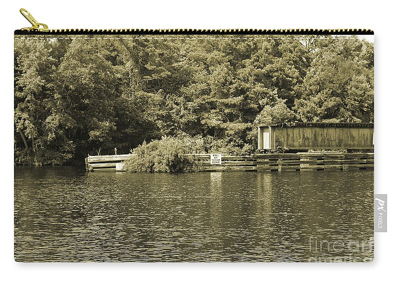 Trestle Carry-all Pouch featuring the photograph Trestle End by Marc Watkins