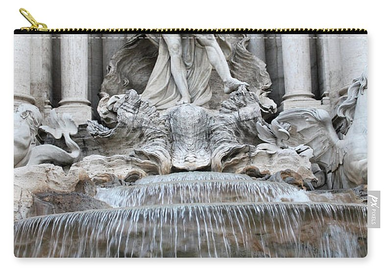 Trevi Carry-all Pouch featuring the photograph Trevi Fountain Rome by Munir Alawi