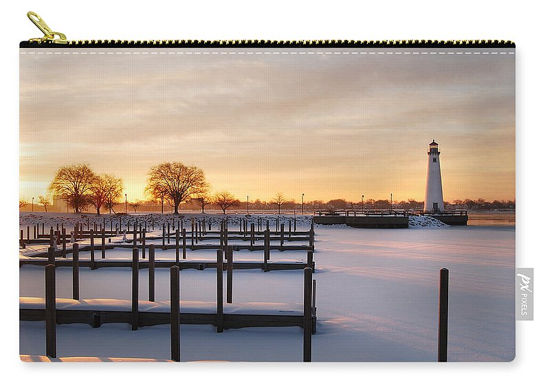Lighthouse Carry-all Pouch featuring the photograph Tri-centennial Light by Michael Peychich