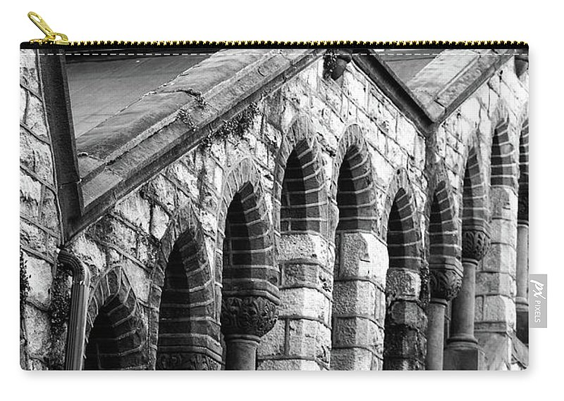Architecture Carry-all Pouch featuring the photograph Triangle View by Lori Tambakis