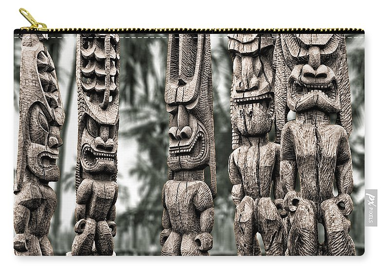 Tiki Carry-all Pouch featuring the photograph Tribal Council by Kelley King