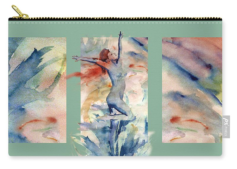 Abstract Carry-all Pouch featuring the painting Tribute by Steve Karol