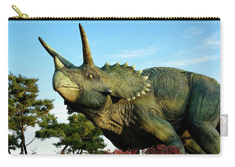 South Korea Carry-all Pouch featuring the photograph Triceratops by Michele Burgess
