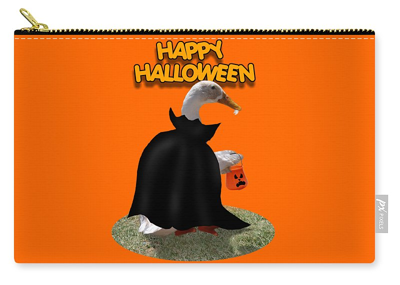 Carry-all Pouch featuring the mixed media Trick Or Treat For Count Duckula by Gravityx9 Designs