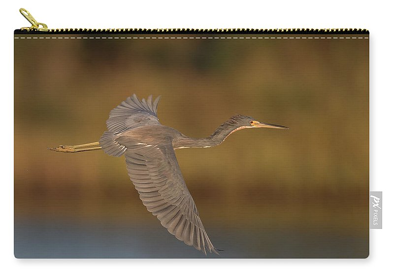 Tricolored Heron Carry-all Pouch featuring the photograph Tricolored Heron by George DeCamp