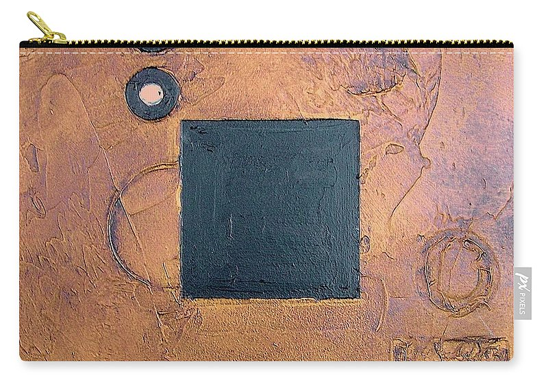 Sets Carry-all Pouch featuring the mixed media Trimetal Three by Marlene Burns
