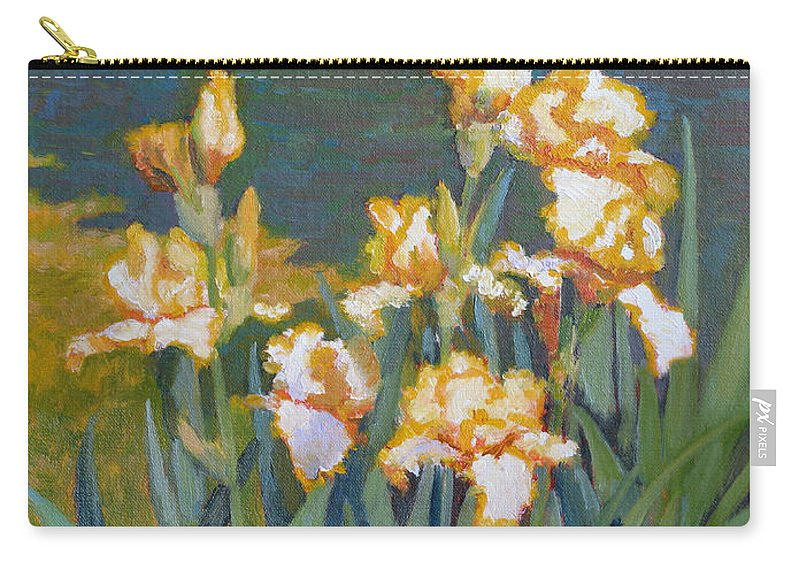 Impressionism Carry-all Pouch featuring the painting Trimmed In Gold by Keith Burgess