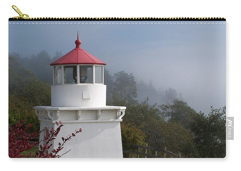 Lighthouse Carry-all Pouch featuring the photograph Trinidad Head Lighthouse by Gale Cochran-Smith