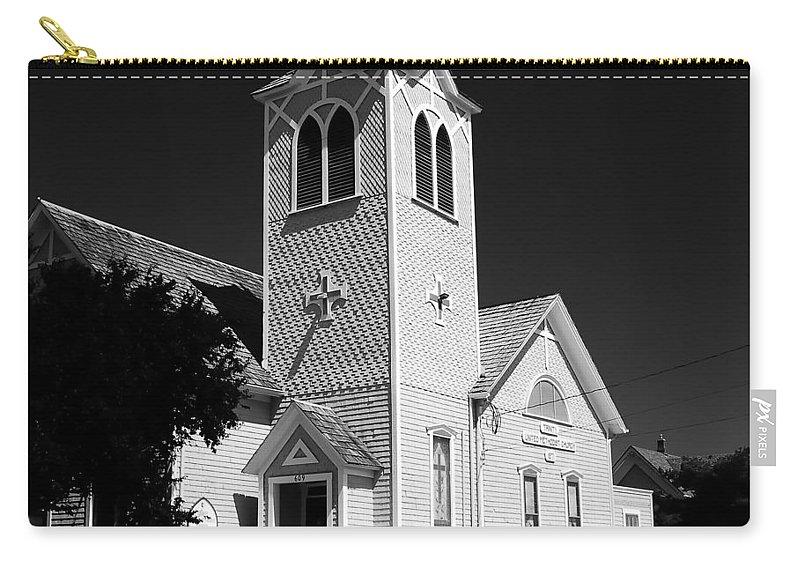 Trinity Church Port Townsend Washington Carry-all Pouch featuring the photograph Trinity Church 1871 by David Lee Thompson