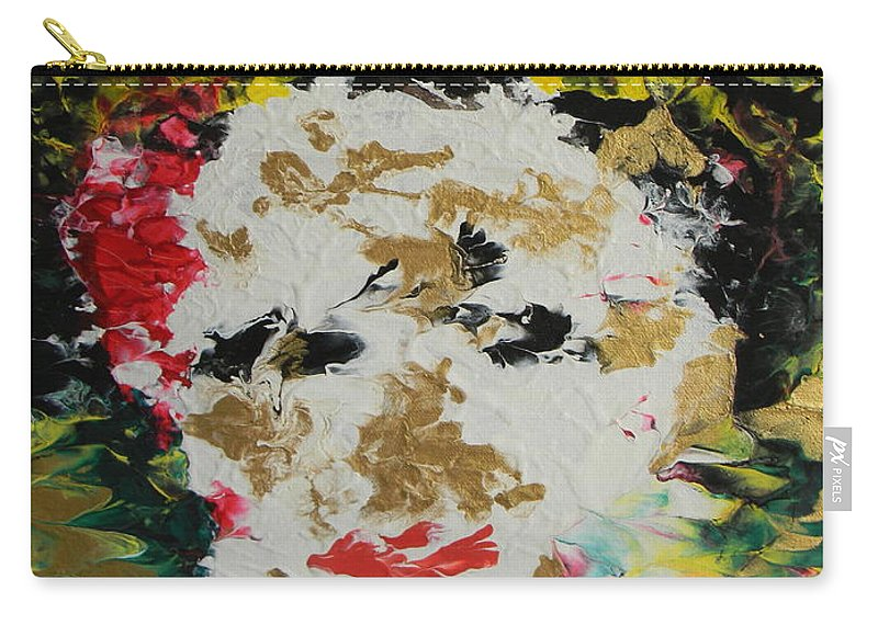 Trinity Carry-all Pouch featuring the painting Trinity Panel One by Marwan George Khoury