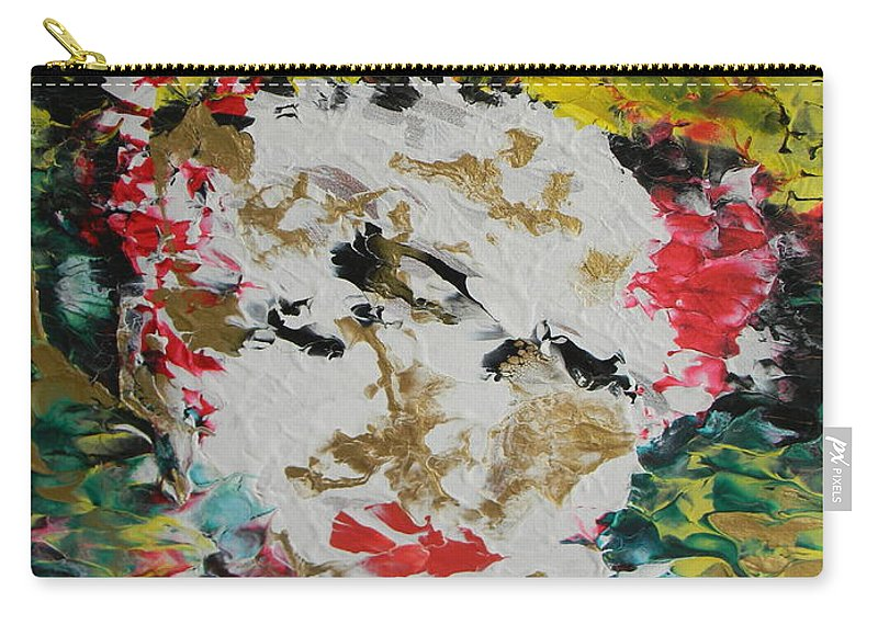 Trinity Carry-all Pouch featuring the painting Trinity Panel Three by Marwan George Khoury