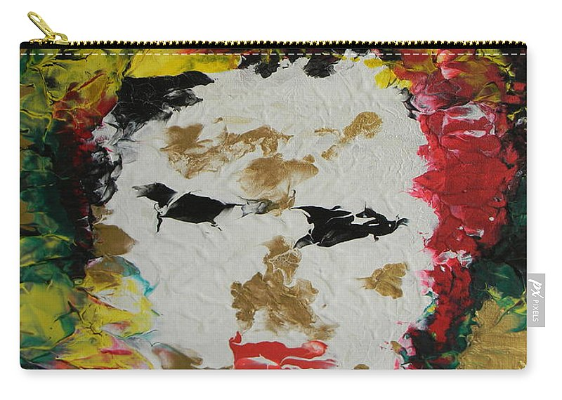 Trinity Carry-all Pouch featuring the painting Trinity Panel Two by Marwan George Khoury