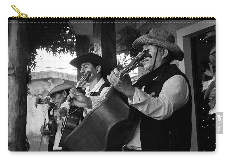 Historiantes Carry-all Pouch featuring the photograph Trio Apaneca by Totto Ponce