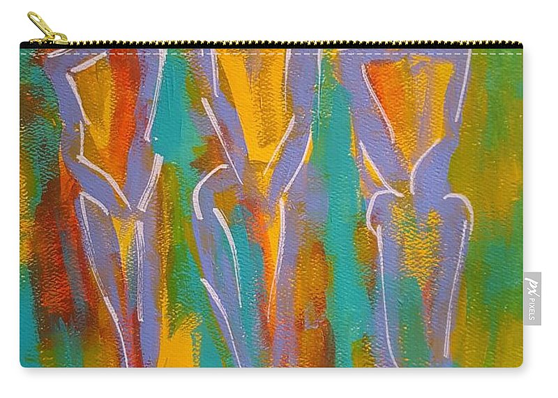 Abstract Carry-all Pouch featuring the painting Trio by Gail Friedman