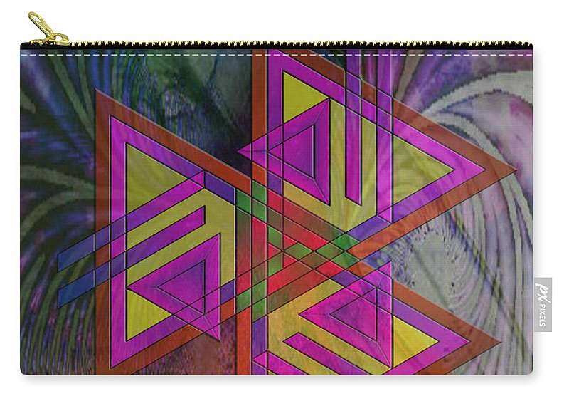 Triple Harmony Carry-all Pouch featuring the digital art Triple Harmony by John Beck