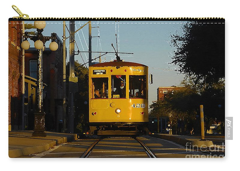 Trolley Carry-all Pouch featuring the photograph Trolley Ride by David Lee Thompson