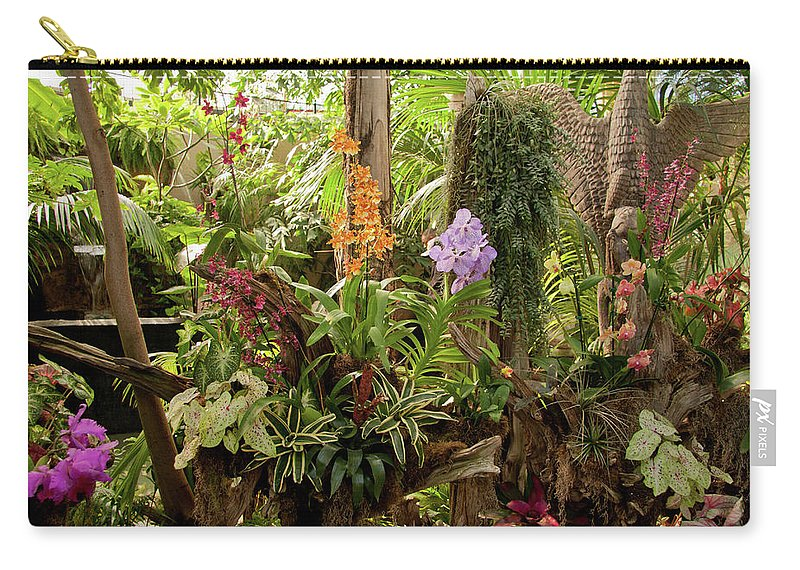 Foliage Carry-all Pouch featuring the photograph Tropic Beauty by Deanna Paull