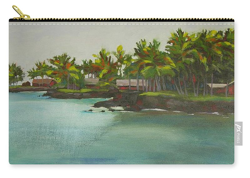 Oil Carry-all Pouch featuring the painting Tropical Bay by Mary McInnis