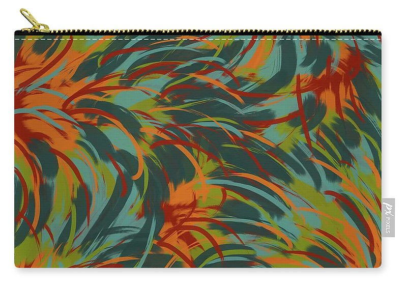 Tropical Carry-all Pouch featuring the digital art Tropical Breeze by Monica Martin
