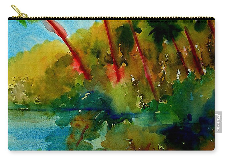 Art Carry-all Pouch featuring the painting Tropical Canal by Julianne Felton