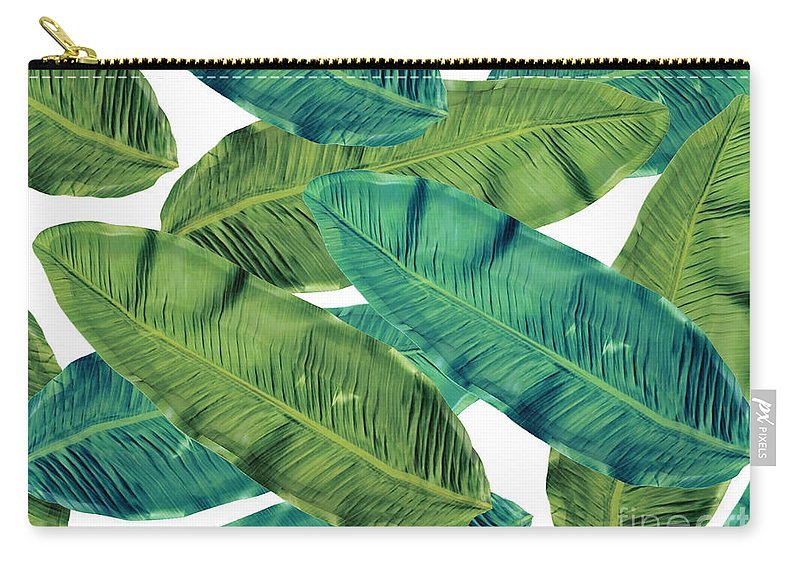 Summer Carry-all Pouch featuring the digital art Tropical Colors 2 by Mark Ashkenazi